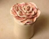 Rose Topped  Jar