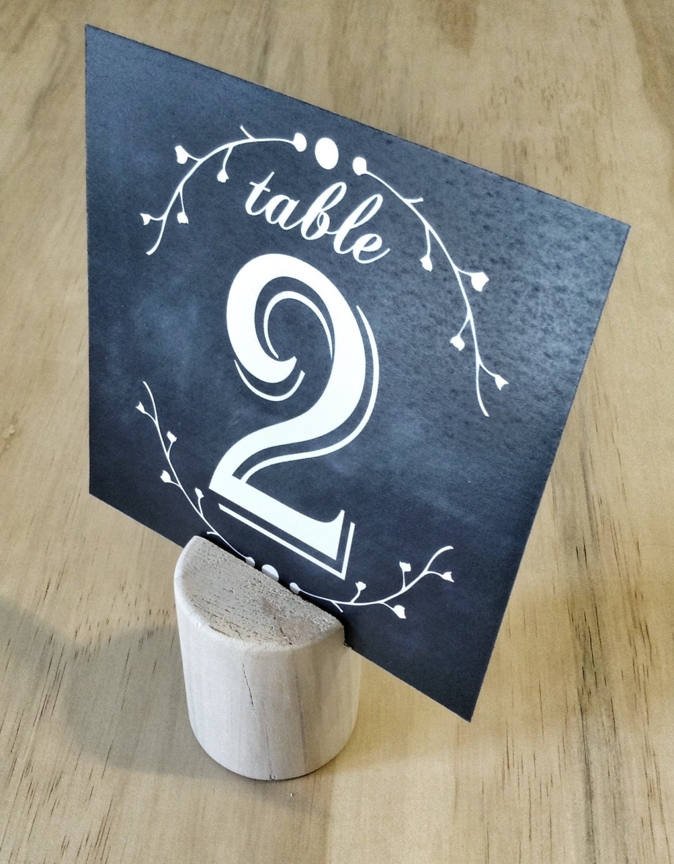 chalkboard table numbers ~ chalkboard wedding table number black & by blushandbirchpaper