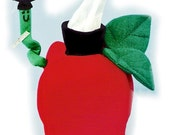 The Original Sneezes Teacher's Apple Sewing Pattern Tissue Box Cover