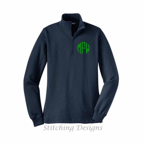 Monogram half zip Pullover Monogram Sweatshirt 1/4 Zip