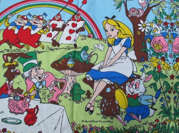 Vintage Alice In Wonderland Fabric 69