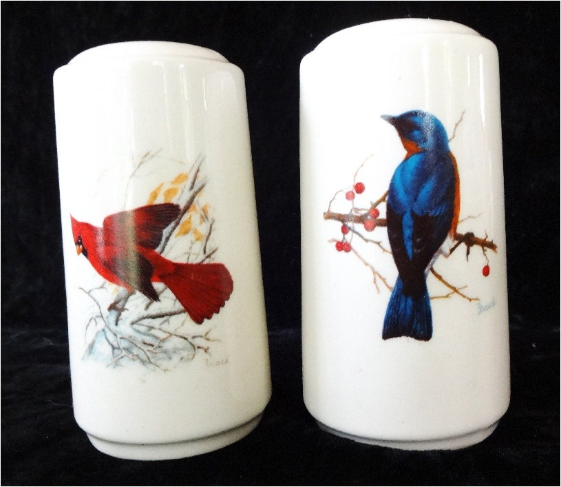 Beautiful Vintage Salt Pepper Shakers Birds