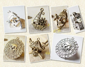 Buccaneer Pirates And Their Treasure Charms Set - 7 pieces - 90011