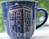 Doctor Who Tardis on Blue Mug - Limited Quantities