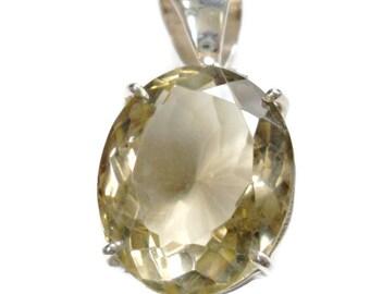 smokey topaz  pendant, gemstone bali sterling silver,  sale, designer quality