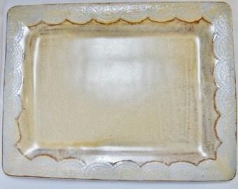 Large Serving Plate, Large Ceramic Plate, Ceramic Serving Dish, Ceramic Serving Plate, Ceramic Platter, Brown Ceramic Platter, Ceramic Dish