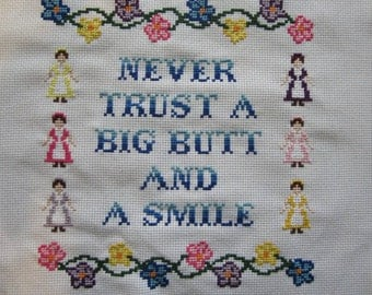 PATTERN Hip Hop Cross Stitch Poison Never Trust a Big Butt and a Smile