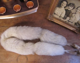 Fox Tail Fur Scarf. Tails and Feet.