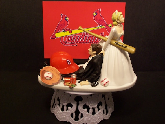 ST LOUIS CARDINALS Baseball Or Your Team Bride And By