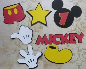 DIY Mickey Mouse Head Shoe Gloves Star Shorts Make Your Own Mickey Birthday Party Centerpiece