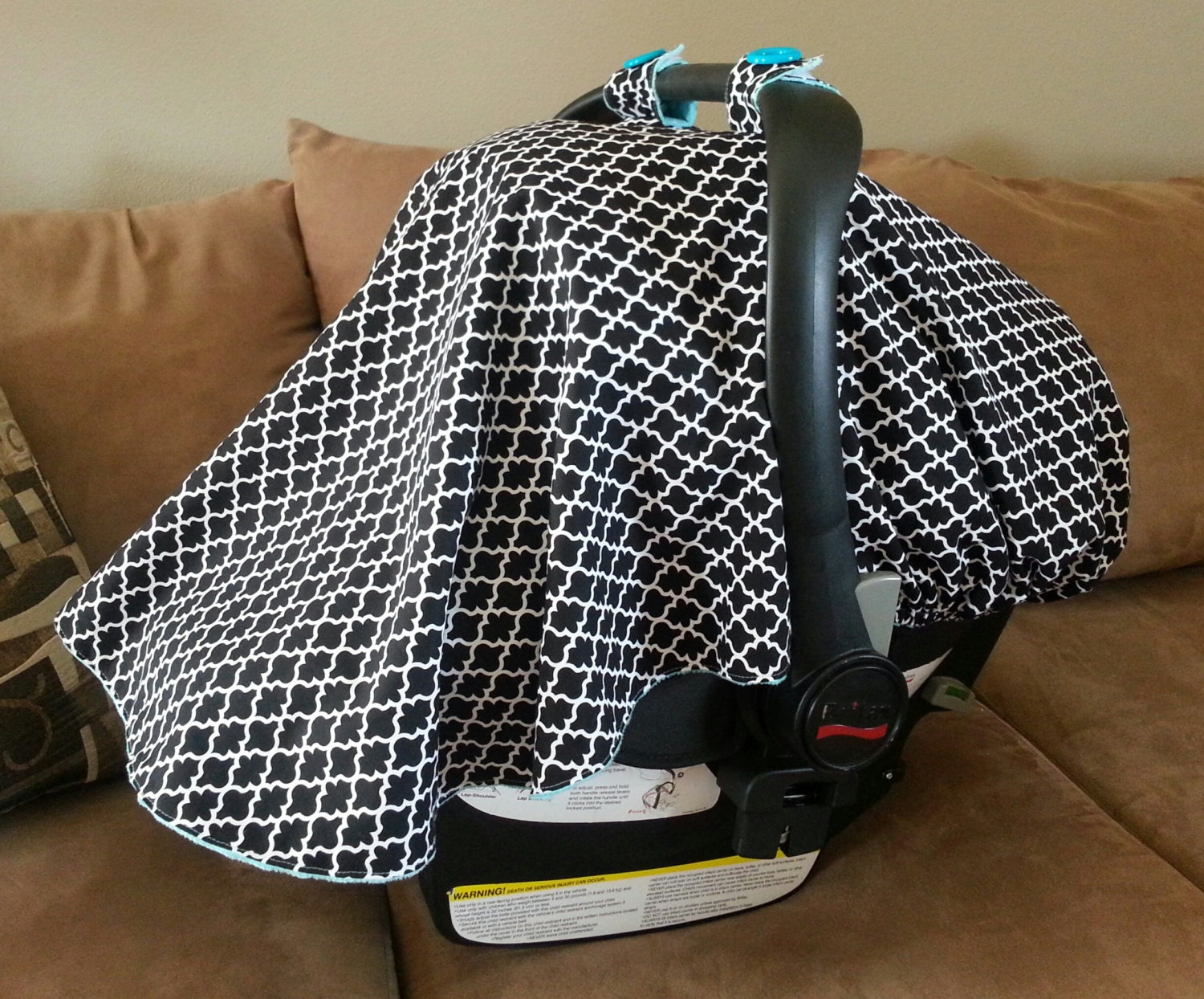 fitted car seat cover baby car seat cover black and white. Black Bedroom Furniture Sets. Home Design Ideas