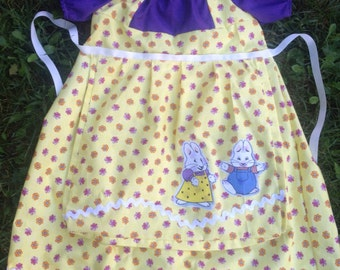 Max and Ruby Halloween costume with Ruby Apron Ruby's yellow dress. EtsyKids Team