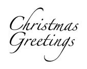 Christmas Greeting - Words for Digital Download Only