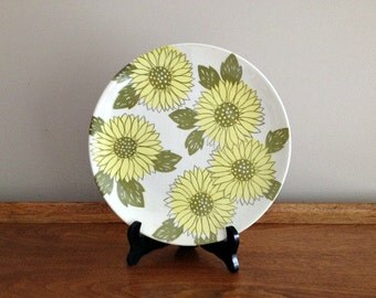 Royal China Sunshine Dinner Plate Mod Sunflowers