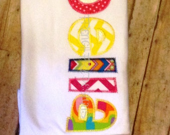 Personalized Applique T-Shirt Customized with Name Listing