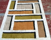 Vintage Are Rug/Wall Hanging. Wool,Geometric,Home Decor, Textile,Retro