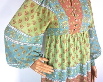ON SALE Beautiful Dolly Rockers Pastel hippie Dress with Balloon Style Sleeves XXS