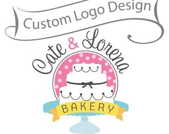Custom Logo Design - professional business logo and watermark - bakery logo, photography logo
