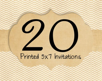 20 Printed Invitations