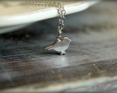 Standing Sparrow Necklace in Silver