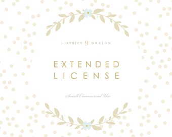 DistrictNineDesign EXTENDED LICENSE for Small Commercial Use