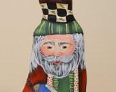 Cypress Knee Santa Figurine with Globe