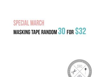 Masking Tape Goodie Bag  - Japanese Washi Tape Surprise Bag - Random 30 Pack