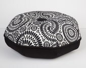 Floor Pillow Pouf- Pillow Round- Decorative Throw Pillow- Psychedelic Spiral- Great for Dorm room decorating- by beckyzimmdesign