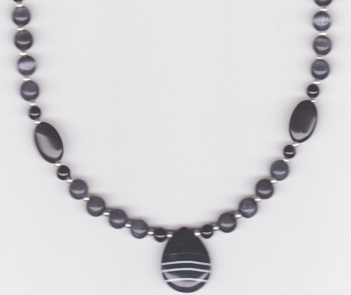 handmade jewelry beaded necklace onyx jewelry onyx teardrop