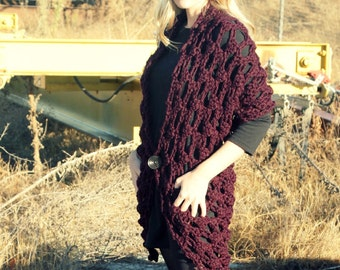 Crochet Pattern - Easy - The Any Way Wrap