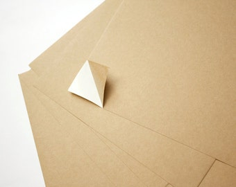 10 pieces A4 Self-Adhesive Kraft Paper for DIY Sticker Making: 10 sheets