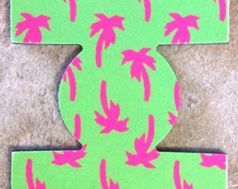 Monogrammed Palm Tree can drink holder