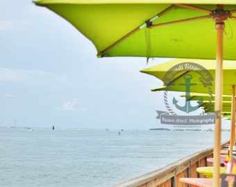 Key West Umbrellas Fine Art Photograph At Checkout, Choose Lustre Print or Gallery Wrapped Canvas