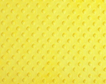 Canary Dimple Minky From Shannon Fabrics