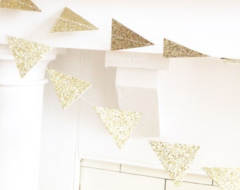 The Glam Geo Garland, Wedding Garland, Gold, Glitter, Wedding Shower, Baby Shower, Birthday Decoration