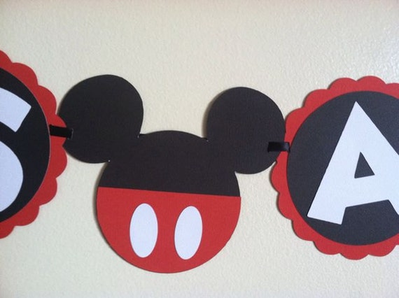 Mickey Mouse Baby Shower Banner Its A Boy Ready To Pop