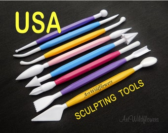 Sculpting Tool Set - for Fimo, Polymer Clay, Sugar Sculpting, Fondant Tools, Cake Decorating, Modeling Tools