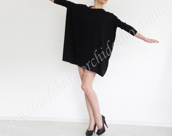 SIMPLE Black top oversized basic casual t-shirt top loose blouse tunic maternity plus size off-shoulder long sleeves boatneck women fashion