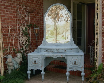 GORGEOUS VANITY In Your Color! Order Your Own Antique Vanity - Shabby Chic Makeup Vanity - Custom Painted Vanity