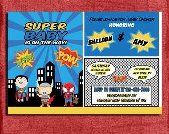 Baby Superhero Baby Shower Invitation-Printable-DIY