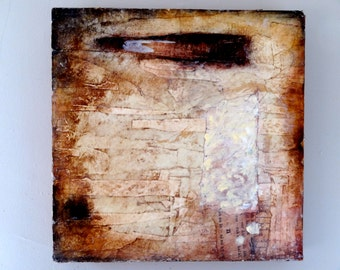 Mixed Media Wall Abstract Art In Encaustic Wax