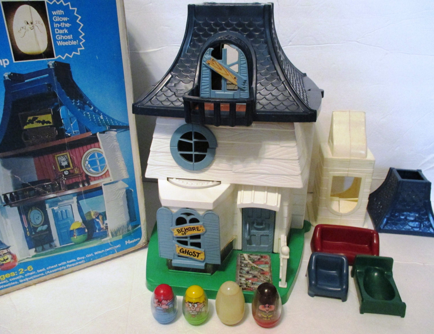 Sale 10 Off Rare Vintage 1970s Weebles Haunted House Witch