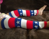 Baby Legwarmers 4th of July American Flag READY TO SHIP