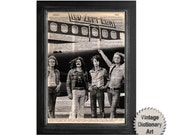 Led Zeppelin Print on Recycled Vintage Dictionary Paper - 8x10.5