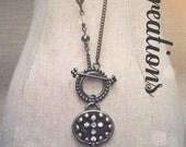 Metal key cross pendant
