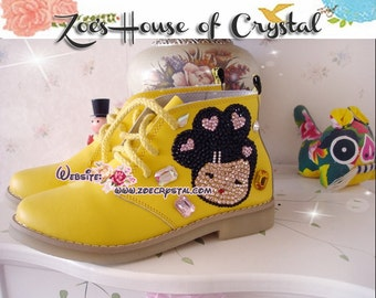 Marten Short Boots with shinning CRYSTAL DOLLS