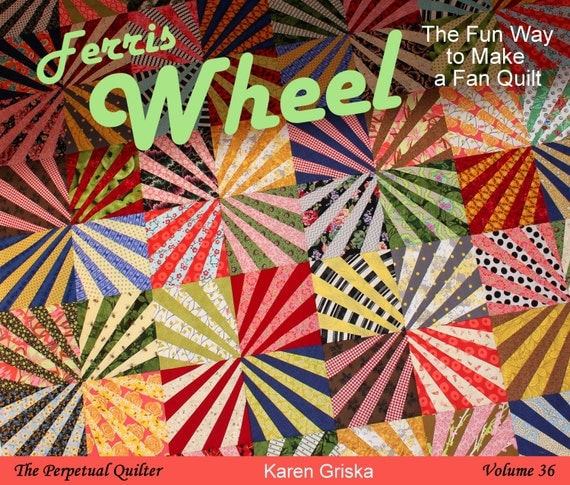 Ferris Wheel Quilt Pattern, Fan Quilt, Fun Scrap Quilt, pdf, qtm