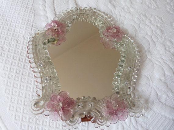 Antique Venetian Mirror Murano Glass Mirror Vanity Mirror W