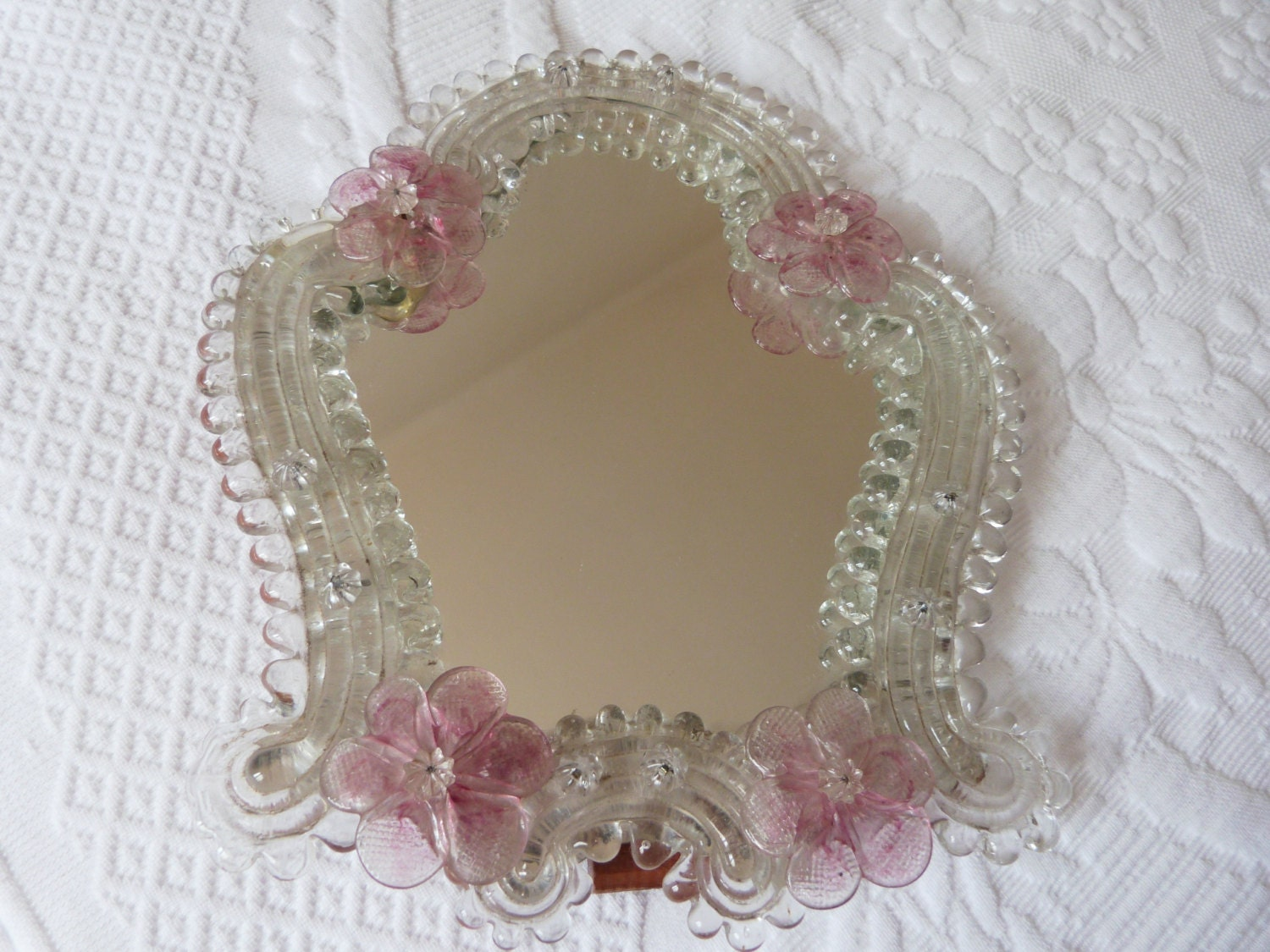 Antique Venetian Mirror Murano Glass Mirror Vanity Mirror W