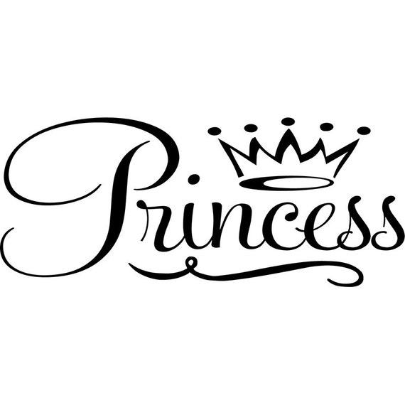 Black Princess Wall Decor : Items similar to princess wall decal with crown